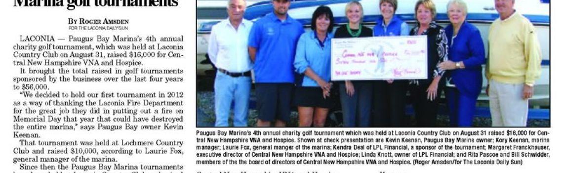 VNA & Hospice Benefit From Paugus Bay Marina Golf Tournament