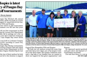 VNA & Hospice Benefit From Paugus Bay Marina Golf Tournament